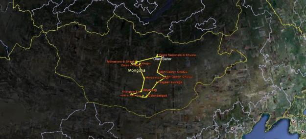 Mappe del viaggio