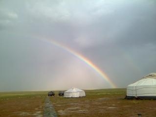 Arcobaleno in mongolia