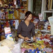 O Erdenet Nel mercato,venditrice