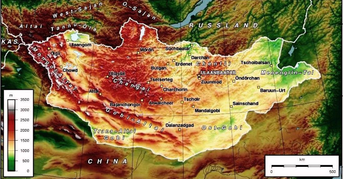 600 Mongolia fisica